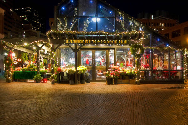 Market Place Photograph - Lambert's At Faneuil Hall by Joann Vitali