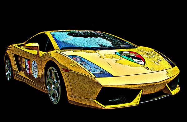 Photograph - Lamborghini Gallardo 3/4 Front View by Samuel Sheats