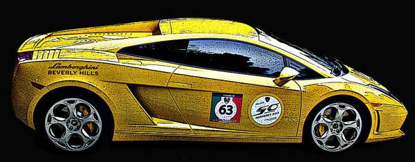 Photograph - Lamborghini Gallardo Side Study by Samuel Sheats