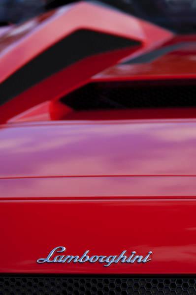 Photograph - Lamborghini Murcielago Roadster Rear Emblem by Jill Reger