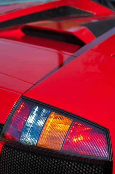 Photograph - Lamborghini Murcielago Roadster Taillight by Jill Reger