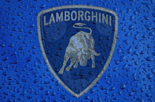 Photograph - Lamborghini Rainy Window Visual Art by Movie Poster Prints