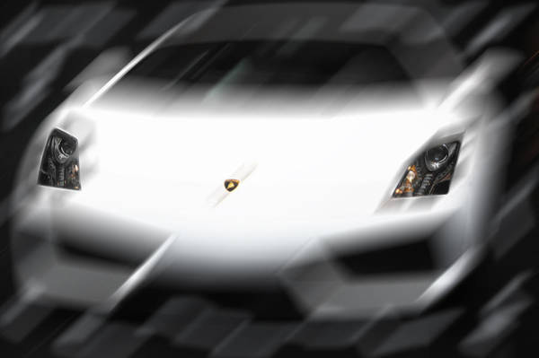 Photograph - Lamborghini Speedup  by Dragan Kudjerski