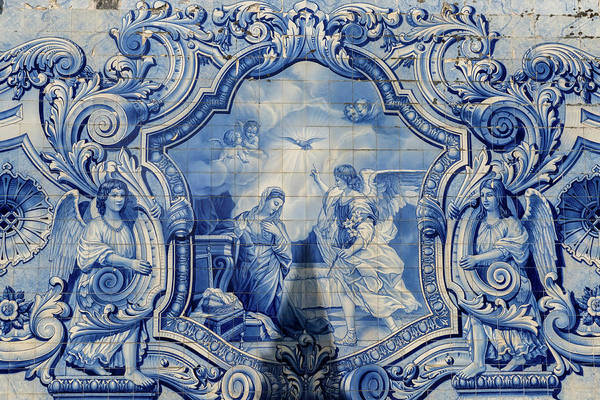 Glazed Tiles Photograph - Lamego, Portugal, Shrine Of Our Lady by Jim Engelbrecht