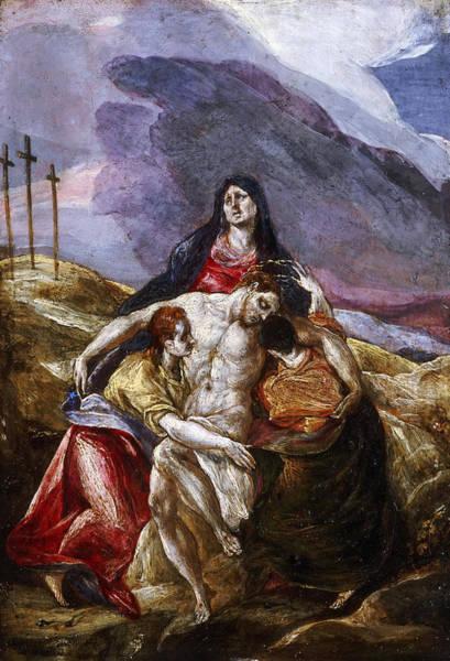 Golgotha Painting - Lamentation by El Greco