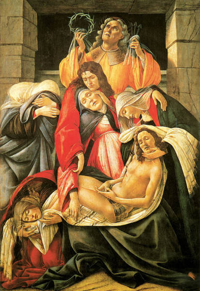 Botticelli Wall Art - Painting - Lamentation Over The Dead Christ by Botticelli
