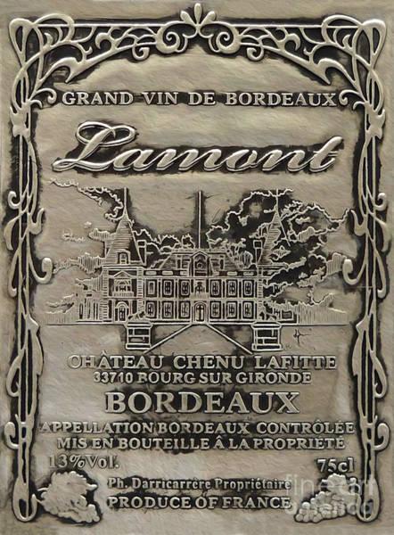 Still Life Mixed Media - Lamont Grand Vin De Bordeaux  by Jon Neidert