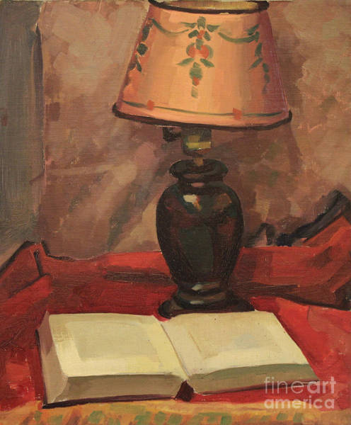 Painting - Lamp And Book 1929 by Art By Tolpo Collection