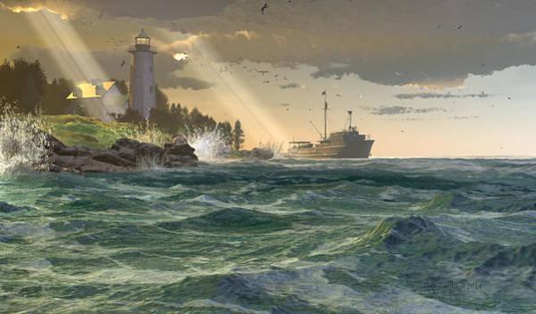 Digital Art - Lamp Of The Fisher by Dieter Carlton