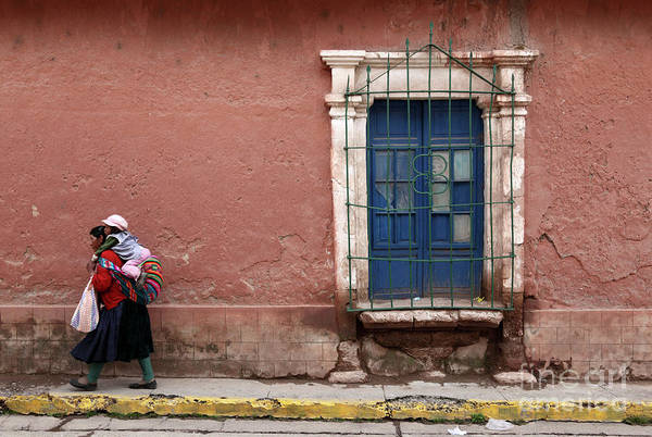 Photograph - Peruvian Woman And Baby In Lampa Village by James Brunker