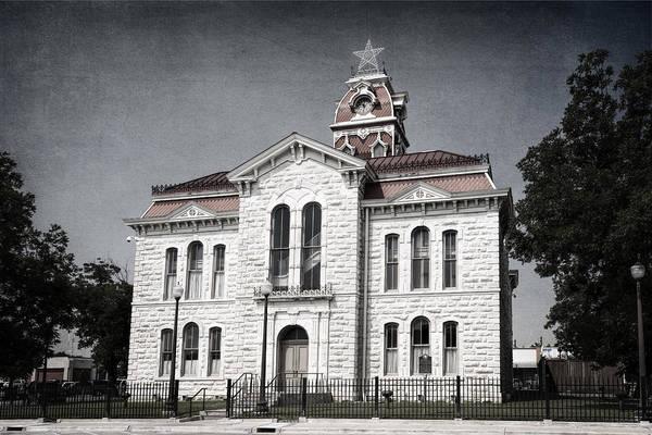 Photograph - Lampasas County Courthouse II by Joan Carroll