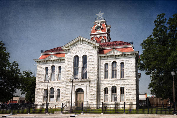 Photograph - Lampasas County Courthouse by Joan Carroll