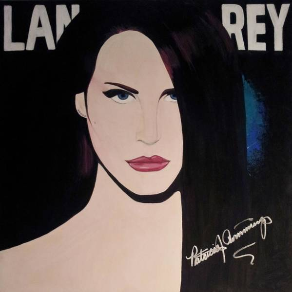 Painting - Lana Del Rey Blue Eyes by Patricia Brewer-Cummings