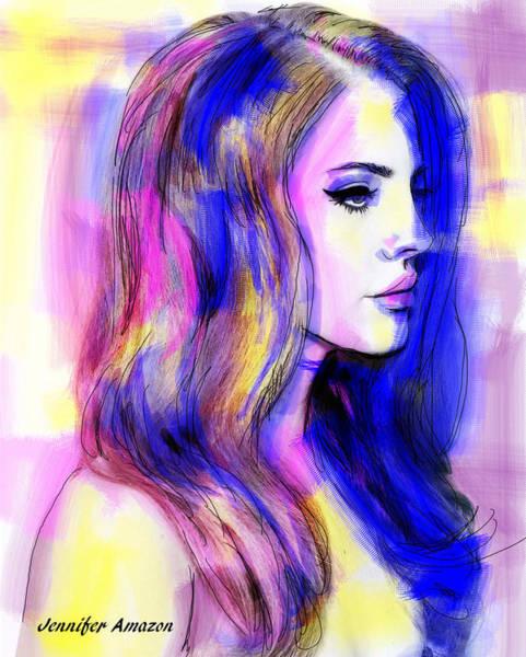 Sultry Digital Art - Lana Del Rey by Jennifer Amazon
