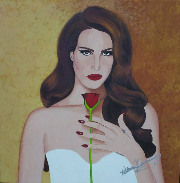 Painting - Lana Del Rey by Patricia Brewer-Cummings