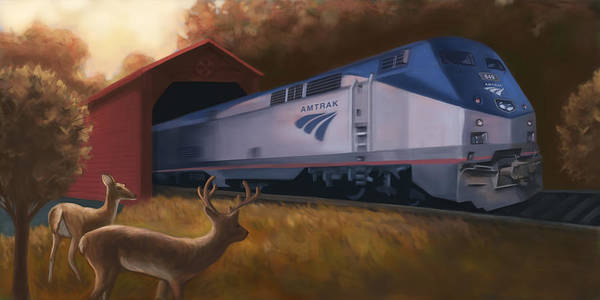 Amish Country Digital Art - Lancaster Amtrak by Barry Sachs