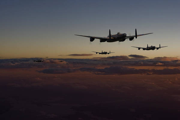 Avro Wall Art - Digital Art - Lancaster -mainstream by Pat Speirs