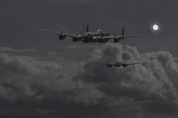 Avro Wall Art - Photograph - Lancaster- Night Hunter by Pat Speirs