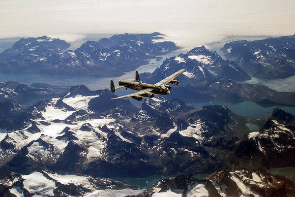 Digital Art - Lancaster Over Greenland by Gary Eason