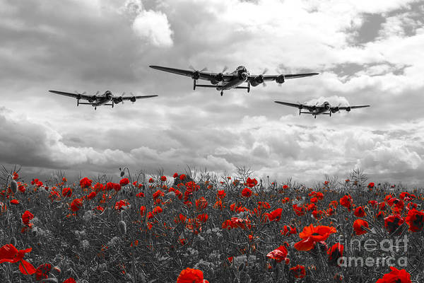 Wall Art - Digital Art - Lancaster Remembrance - Selective by J Biggadike