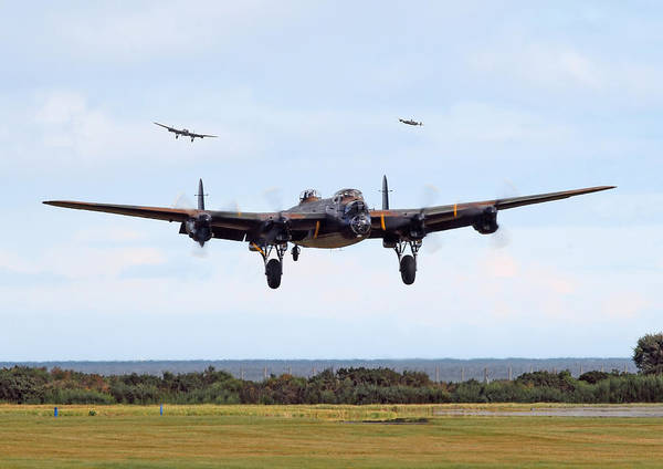 Avro Wall Art - Digital Art - Lancaster - Safe Home by Pat Speirs