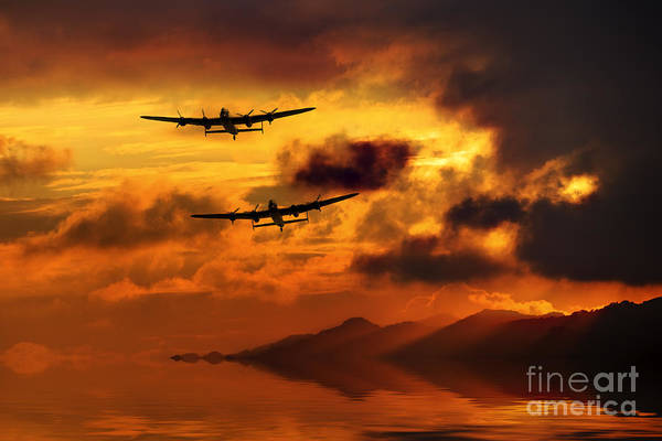 Lake District Digital Art - Lancasters And Sun Rays  by J Biggadike