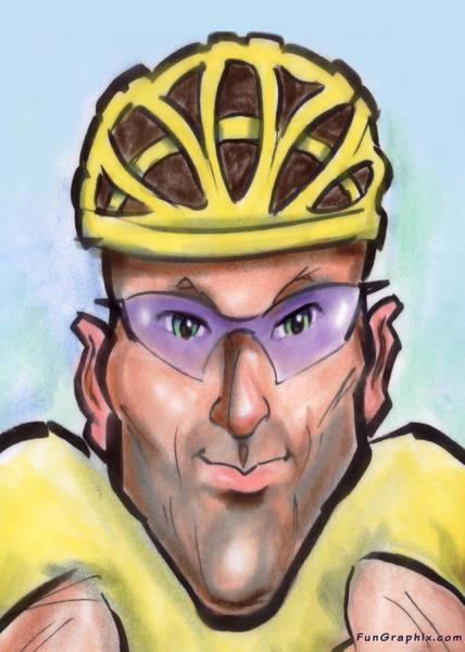 Painting - Lance Armstrong by Kevin Middleton