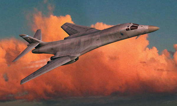 Nuclear Bomber Wall Art - Digital Art - Lancing The Sky by Dale Jackson