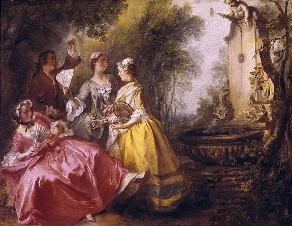 1741 Photograph - Lancret, Nicolas 1690-1743. The Four by Everett