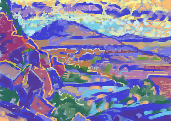 Howard Painting - Land And Light by Howard Ganz