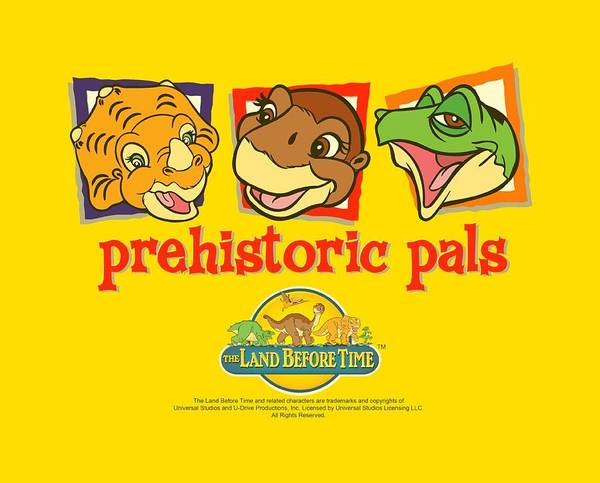 Family Time Wall Art - Digital Art - Land Before Time - Prehistoric Pals by Brand A