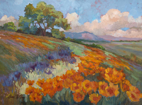 Hillside Wall Art - Painting - Land Of Sunshine by Diane McClary