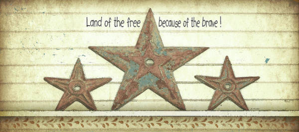 Family Farm Painting - Land Of The Free by Jo Moulton