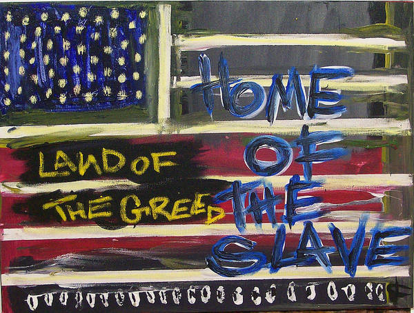 Popstract Digital Art - Land Of The Greed Home Of The Slave by Kamoni Khem