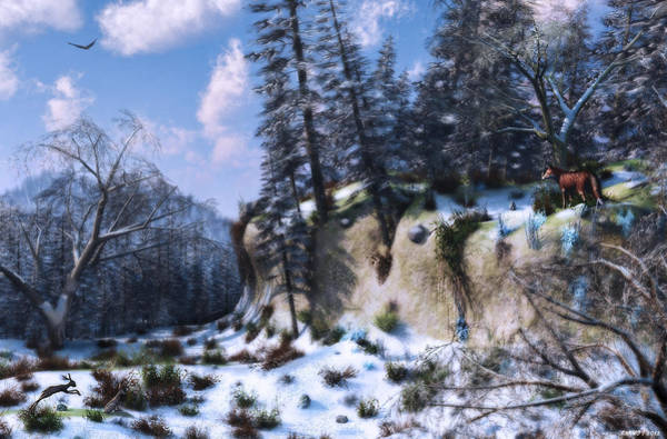 Digital Art - Land Of The Red Fox by Ken Morris