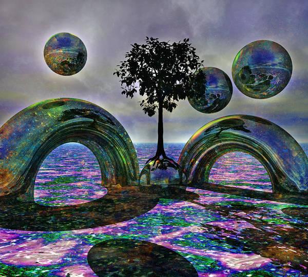 Wall Art - Digital Art - Land Of World 8624030 by Betsy Knapp