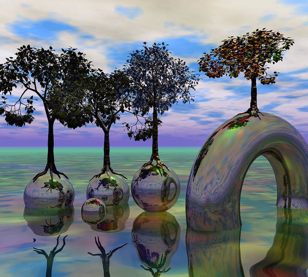 Wall Art - Digital Art - Land Of World 8624034 by Betsy Knapp