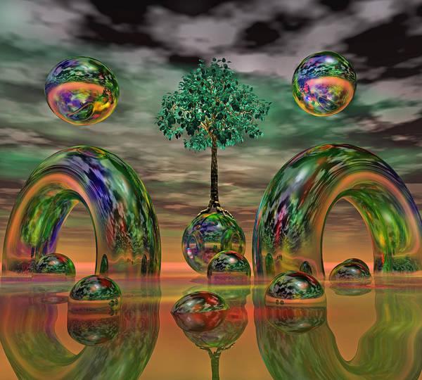 Wall Art - Digital Art - Land Of World 8624036 by Betsy Knapp