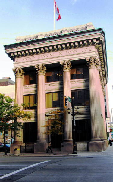 Photograph - Landed Banking  And Loan  Company Building by Danielle  Parent