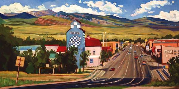 Foothills Wall Art - Painting - Lander 2000 by Art West
