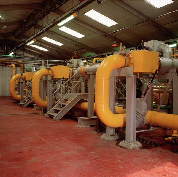 Wall Art - Photograph - Landfill Gas Power Station Turbine Hall by Robert Brook/science Photo Library