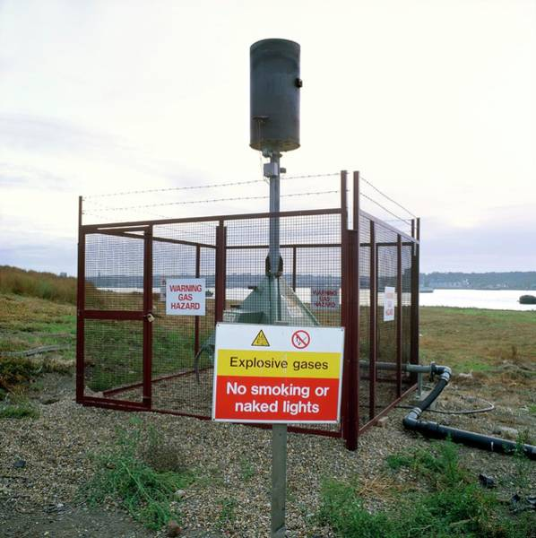 Vent Photograph - Landfill Gas Vent by Robert Brook/science Photo Library