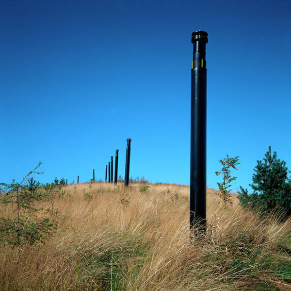 Vent Photograph - Landfill Site Reclamation by Robert Brook/science Photo Library