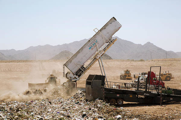 Landfill Waste Disposal Site Art Print by Peter Menzel