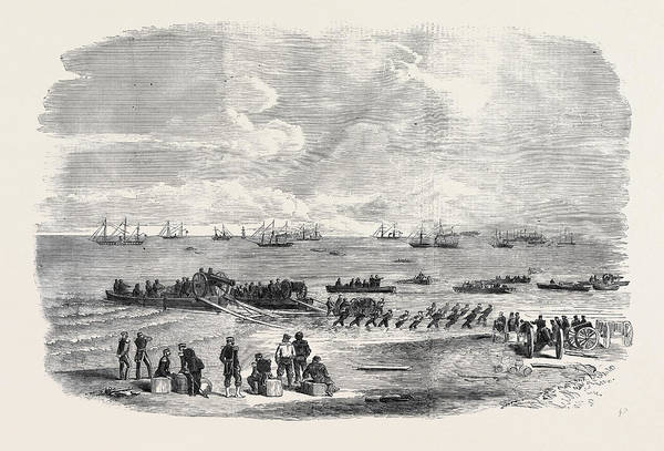 Ukraine Drawing - Landing Artillery On The Spit by English School
