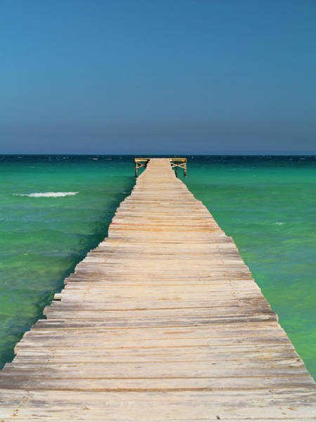 Jetty Photograph - Landing Jetty Over Clear Seas by Travelpix Ltd