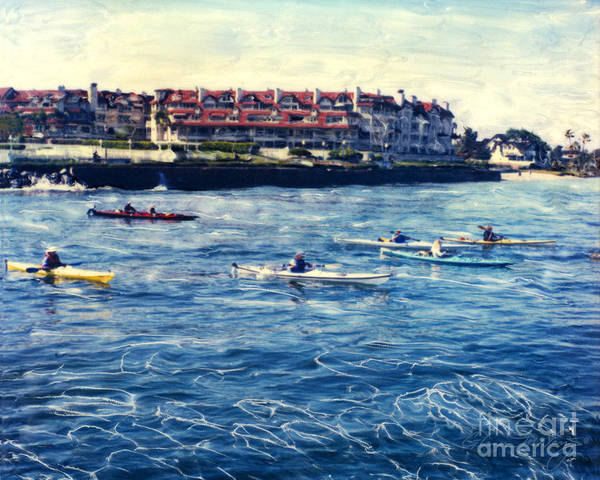 Landing Kayaking Art Print