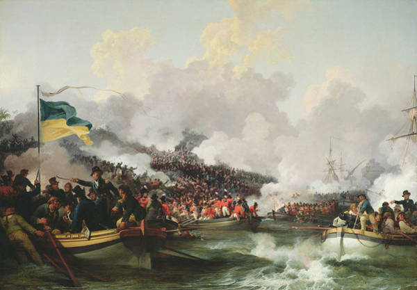 Wall Art - Photograph - Landing Of British Troops At Aboukir, 8 March 1801, 1802 Oil On Canvas by Philip James Loutherbourg