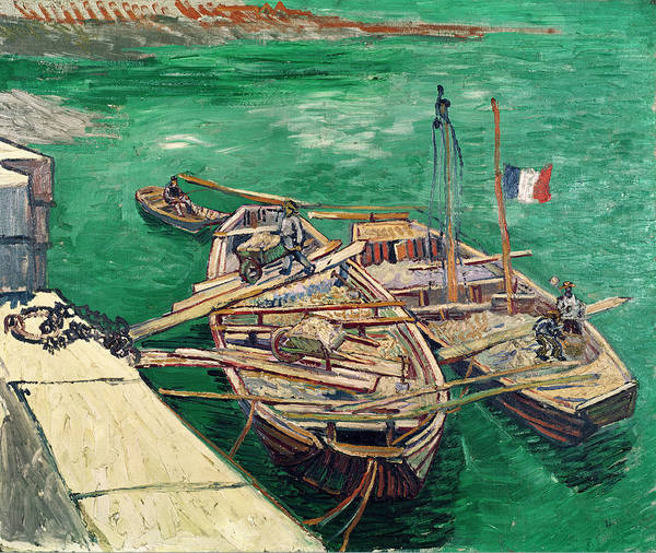 Wall Art - Painting - Landing Stage With Boats by Vincent van Gogh