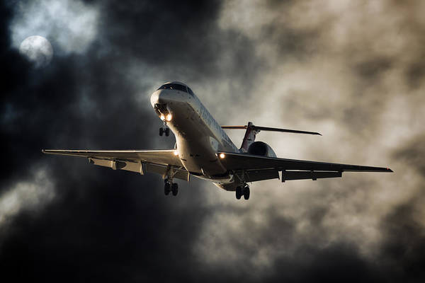 Kimberley Airport Photograph - Landing Sunset by Paul Job